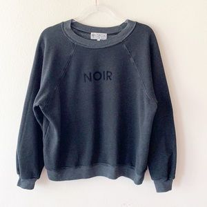 WILDFOX Noir Crewneck Sweater